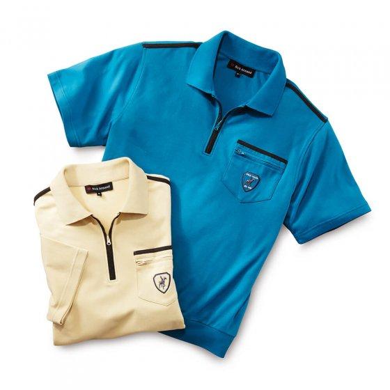 Komfort-Interlockshirt  M | Sand#Aqua