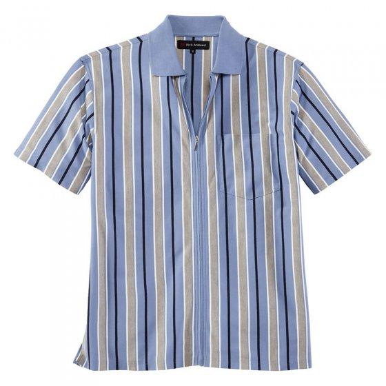 Chemise jersey zippée