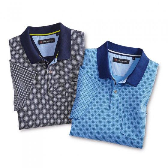 Jersey Poloshirt, marine-bed. XL | Marine-bedruckt