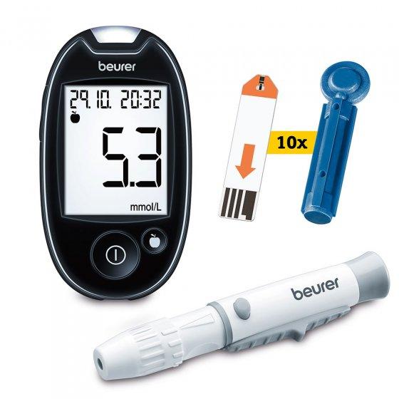 Beurer Blutzuckermessgerät Starterset Starter-Set mmol/L