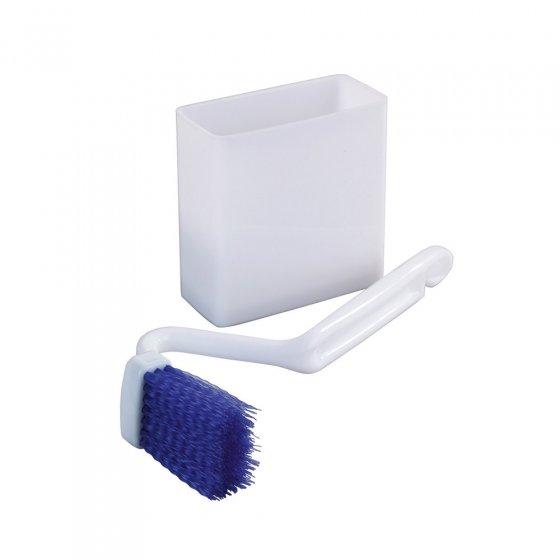 Brosse WC nettoie-rebord avec boîte