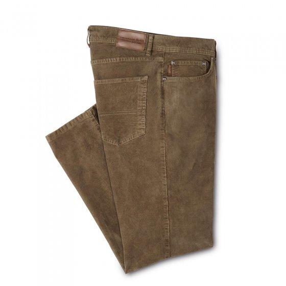 Pantalon tendance en velours côtelé