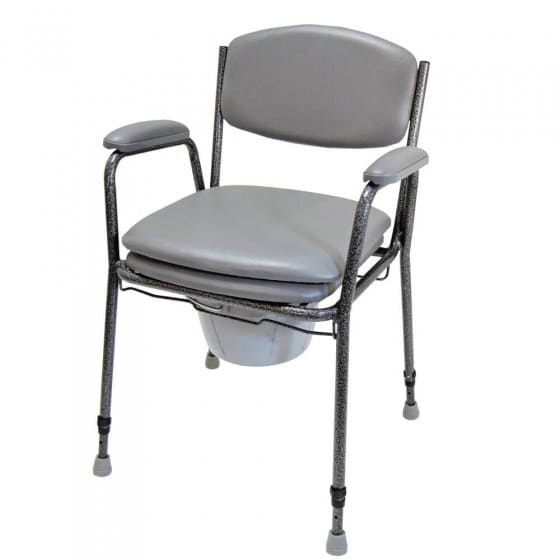 Chaise percée réglable en hauteur