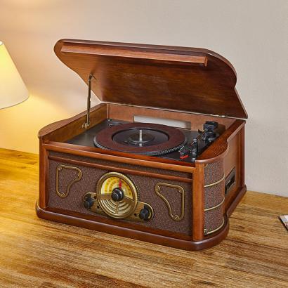 retro stereoanlage mit aufnahmefunktion g nstig retro. Black Bedroom Furniture Sets. Home Design Ideas