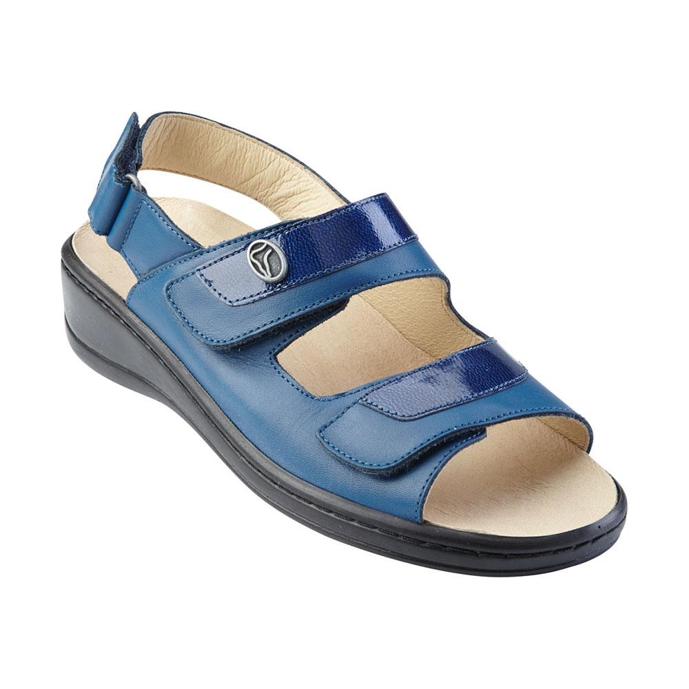Sandalette leder uni blau 42 g nstig sandalette leder for Blau rechnung
