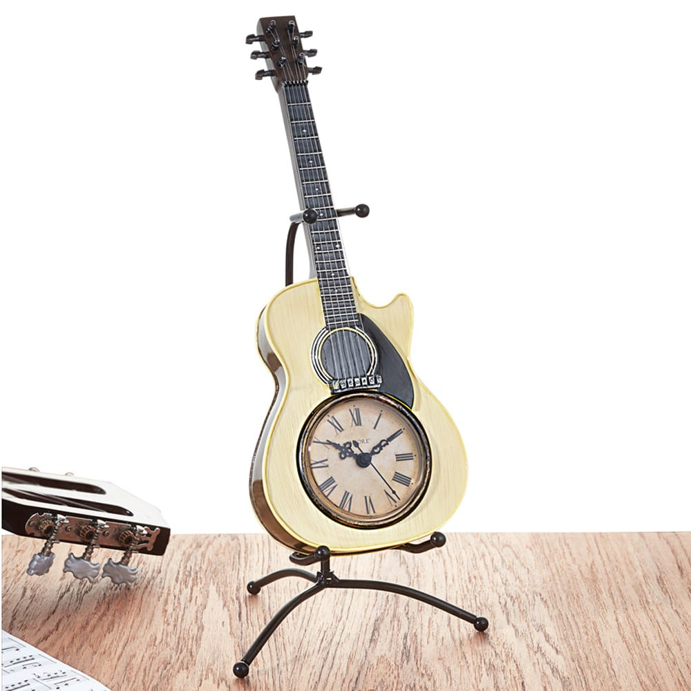 gitarren tischuhr g nstig gitarren tischuhr auf rechnung. Black Bedroom Furniture Sets. Home Design Ideas